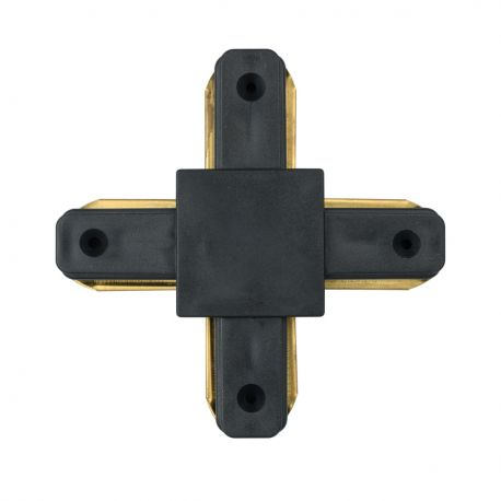 Spoturi, Proiectoare pe sina - Conector, Accesoriu sina metalica neagra pentru spoturile Galax, Rony, Rondo CON 2X BL