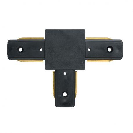 Spoturi, Proiectoare pe sina - Conector, Accesoriu sina metalica neagra pentru spoturile Galax, Rony, Rondo CON 2T BL