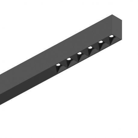 Lustre / Pendule spatii comerciale - Lustra LED profesionala 30W 4000K FLUO ACCENT 1200 neagra