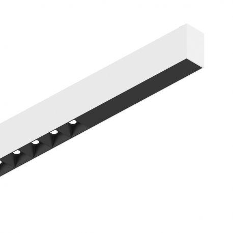 Lustre / Pendule spatii comerciale - Lustra LED profesionala 30W 3000K FLUO ACCENT 1800 alba