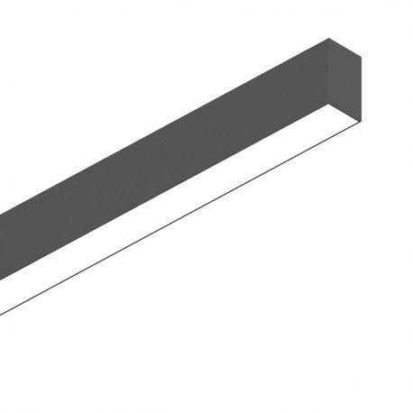 Lustre / Pendule spatii comerciale - Lustra LED profesionala 26W 3000K FLUO WIDE 1200 negru