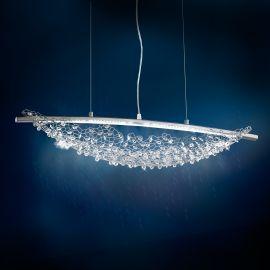 Lustre Cristal Swarovski - Lustra LUX, cristale Swarovski, LED 3000K, Amaca 76cm