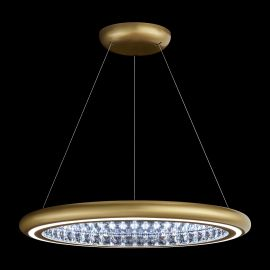 Lustre Cristal Swarovski - Lustra LUX, cristale Swarovski, iluminat LED, Infinite Aura 76cm