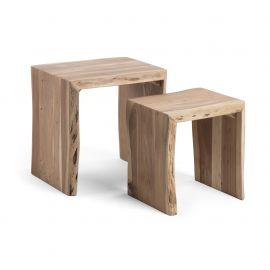 Masute Living - Set de 2 masute design rustic KAIRY