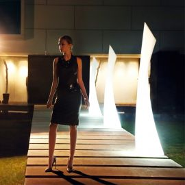 Bar lounge - Corp iluminat LED RGB de exterior / interior design modern decorativ WING LAMP