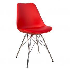 Seturi scaune, HoReCa - Set de 4 scaune Scandinavia Retro, rosu