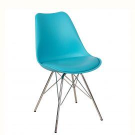 Seturi scaune, HoReCa - Set de 4 scaune Scandinavia Retro, turcoaz