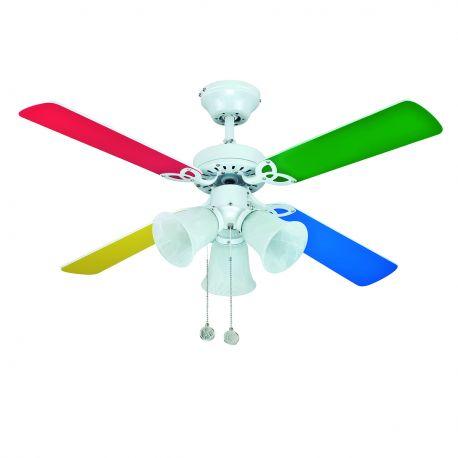 Lustre cu ventilator - Lustra cu ventilator HORNET alba