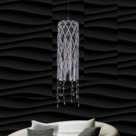 Lustra moderna design LUX cristal ROSÉE CYLINDER