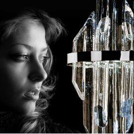 Lustra LED moderna design LUX cristal QUARTZ 03, 38cm