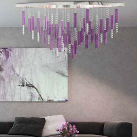 Lustre Cristal Bohemia - Lustra LED moderna design LUX Flare 03