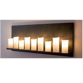 Aplice perete Fier Forjat - Aplica din fier forjat cu 9 surse de lumina, WL 3576
