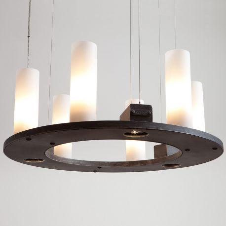 Lustre, Candelabre Fier Forjat - Candelabru din fier forjat cu 6 surse de lumina, HL 2557