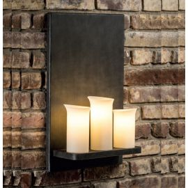 Aplice perete Fier Forjat  - Aplica din fier forjat cu 3 surse de lumina design lumanare WL 3655