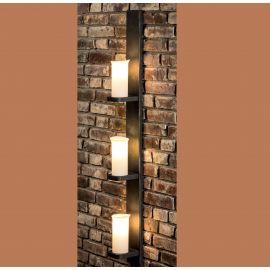 Aplice perete Fier Forjat - Aplica din fier forjat cu 3 surse de lumina design lumanare WL 3656