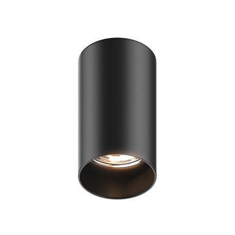 Plafoniere cu spoturi, Spoturi aplicate - Spot modern aplicat TUBA SL negru