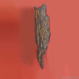 Aplice perete Fier Forjat - Aplica lumina ambientala design scoarta de copac din aluminiu turnat WL 3661, 74cm