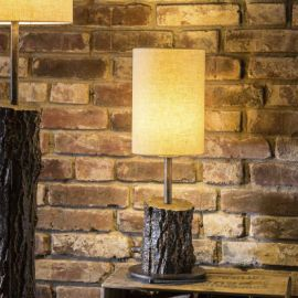 Veioze, Lampadare Fier Forjat - Veioza design scoarta de copac din aluminiu turnat TL 4104