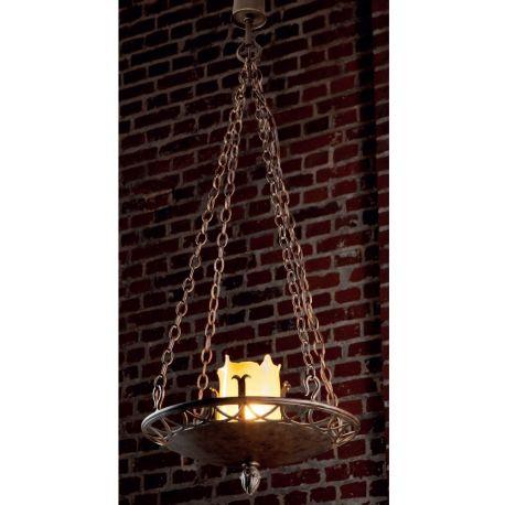 Lustre, Candelabre Fier Forjat - Candelabru din fier forjat realizat manual in stil gotic HL 2424