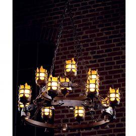 Lustre, Candelabre Fier Forjat - Candelabru din fier forjat realizat manual in stil gotic HL 2425-N