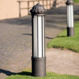 Stalpi Fier Forjat - Stalp iluminat exterior din fier forjat, inaltime 111cm AL 6855
