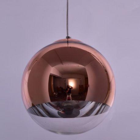 Pendule, Lustre suspendate - Pendul modern SE3130-1-COP ALESSIA COPPER-CLEAR Ø30