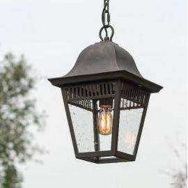 Lustre Exterior Fier Forjat - Pendul iluminat exterior din fier forjat, HL 2629