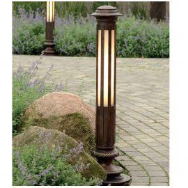 Stalp iluminat exterior din fier forjat, AL 6600