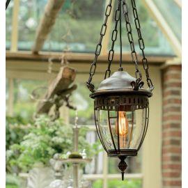 Lustre Exterior Fier Forjat - Pendul iluminat exterior din fier forjat, HL 2530