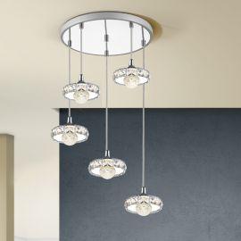 Pendule, Lustre suspendate - Lustra LED cu 5 Pendule design modern Suria