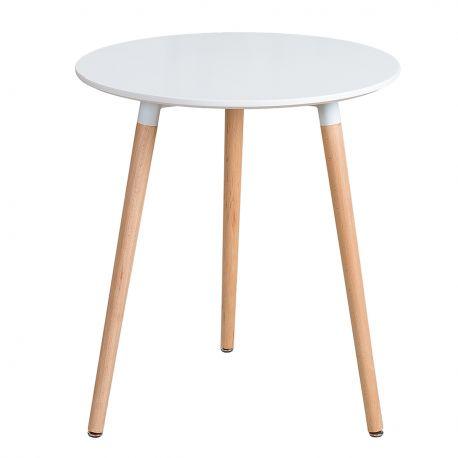 Mese dining - Masa bistro, rotunda, design nordic Scandinavia 60cm, alb