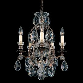 Lustra LUX 5 brate, stil baroc, cristale Heritage, Renaissance 3769