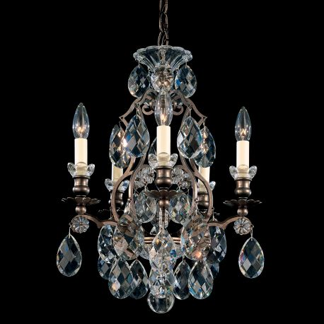 Lustre Cristal Schonbek - Lustra LUX 5 brate, stil baroc, cristale Heritage, Renaissance 3769