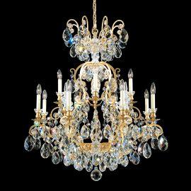 Lustre Cristal Schonbek - Lustra LUX 12 brate, stil baroc, cristal Heritage, Renaissance 3772