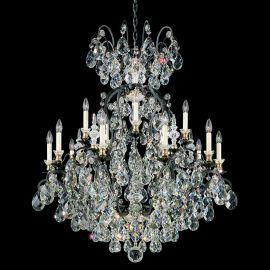 Lustre Cristal Schonbek - Lustra LUX 15 brate, stil baroc, cristal Heritage, Renaissance 3773