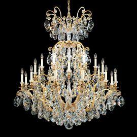 Lustre Cristal Schonbek - Lustra LUX 24 brate, stil baroc, cristal Heritage, Renaissance 3774