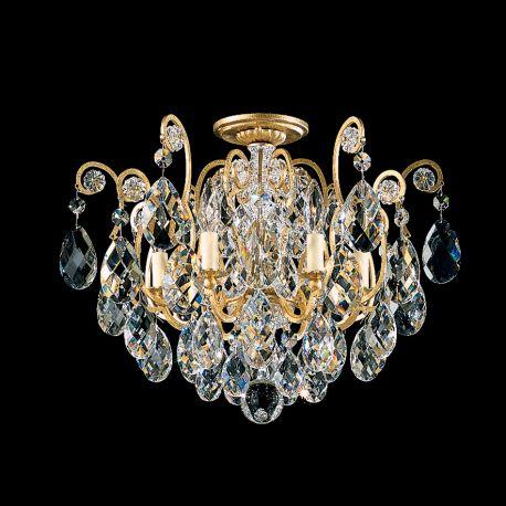 Plafoniere Cristal Schonbek - Plafoniera LUX stil baroc, cristal Heritage, Renaissance 3784