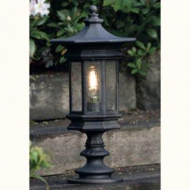 Stalp iluminat exterior din fier forjat, inaltime 63cm, AL 6870