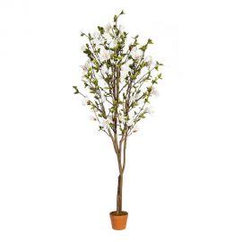 Planta artificiala decorativa pentru exterior Magnolie VERDE 196cm