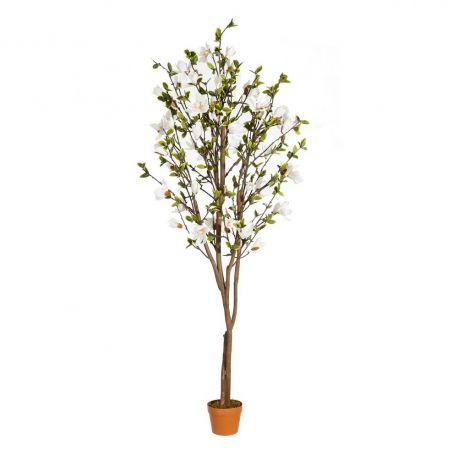 Obiecte decorative - Planta artificiala decorativa pentru exterior Magnolie VERDE 196cm