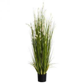 Obiecte decorative - Planta artificiala decorativa pentru exterior Spice albe 167cm