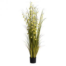Planta artificiala decorativa pentru exterior Flori galbene 200cm