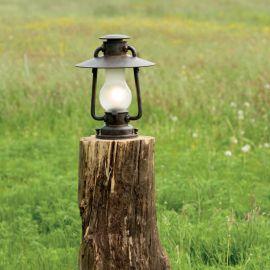 Stalp iluminat exterior din fier forjat, inaltime 38cm, AL 6589