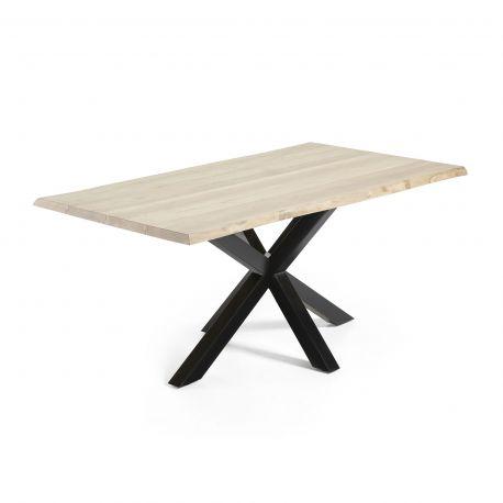 Mese dining - Masa Dining ARYA 160x90cm otel negru/ stejar albit
