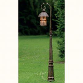 Stalpi Fier Forjat - Stalp iluminat exterior din fier forjat, inaltime 160cm, AL 6800