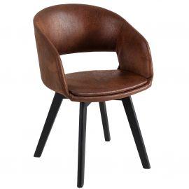Seturi scaune, HoReCa - Set de 2 scaune design scandinav Nordic Star maro antic