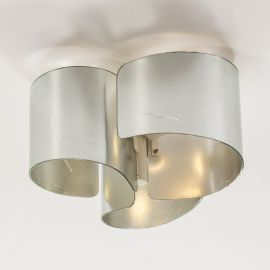 Lustre aplicate - Lustra aplicata design modern Agata argintiu/alb