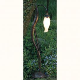 Stalpi Fier Forjat - Stalp iluminat exterior din fier forjat design floare AL 6853