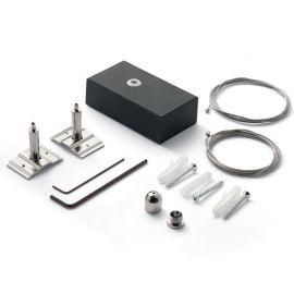 Accesoriu, Kit suspensie Lustre LED FLUO negru, 500cm