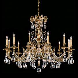 Lustre Cristal Schonbek - Lustra LUX 12 brate, stil floral cu cristale Heritage, Genzano GE4712